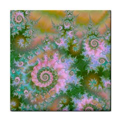 Rose Forest Green, Abstract Swirl Dance Face Towel by DianeClancy