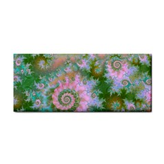Rose Forest Green, Abstract Swirl Dance Hand Towel by DianeClancy