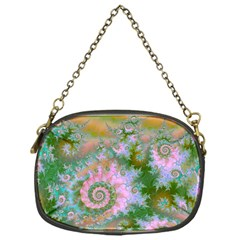 Rose Forest Green, Abstract Swirl Dance Chain Purse (one Side) by DianeClancy