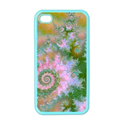 Rose Forest Green, Abstract Swirl Dance Apple Iphone 4 Case (color) by DianeClancy