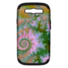 Rose Forest Green, Abstract Swirl Dance Samsung Galaxy S Iii Hardshell Case (pc+silicone) by DianeClancy