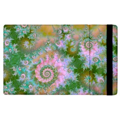 Rose Forest Green, Abstract Swirl Dance Apple Ipad 2 Flip Case by DianeClancy
