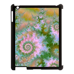 Rose Forest Green, Abstract Swirl Dance Apple Ipad 3/4 Case (black) by DianeClancy