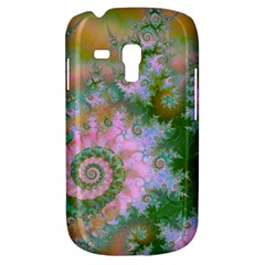Rose Forest Green, Abstract Swirl Dance Samsung Galaxy S3 Mini I8190 Hardshell Case by DianeClancy