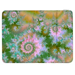 Rose Forest Green, Abstract Swirl Dance Samsung Galaxy Tab 7  P1000 Flip Case by DianeClancy