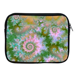 Rose Forest Green, Abstract Swirl Dance Apple Ipad Zippered Sleeve by DianeClancy