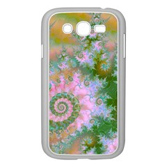 Rose Forest Green, Abstract Swirl Dance Samsung Galaxy Grand Duos I9082 Case (white) by DianeClancy