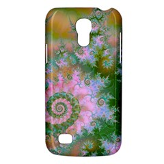 Rose Forest Green, Abstract Swirl Dance Samsung Galaxy S4 Mini (gt I9190) Hardshell Case  by DianeClancy