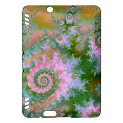 Rose Forest Green, Abstract Swirl Dance Kindle Fire Hdx 7  Hardshell Case by DianeClancy