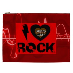 Love Rock Xxl Cosmetic Bag By Joy Johns   Cosmetic Bag (xxl)   C9kqda5kturb   Www Artscow Com Front
