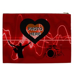 Love Rock Xxl Cosmetic Bag By Joy Johns   Cosmetic Bag (xxl)   C9kqda5kturb   Www Artscow Com Back