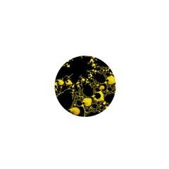 Special Fractal 04 Yellow 1  Mini Button by ImpressiveMoments