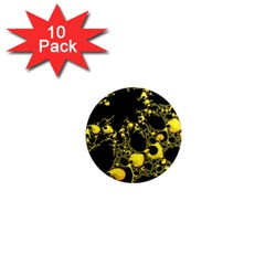 Special Fractal 04 Yellow 1  Mini Button Magnet (10 Pack) by ImpressiveMoments