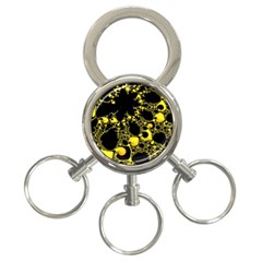 Special Fractal 04 Yellow 3 Ring Key Chain by ImpressiveMoments