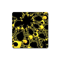 Special Fractal 04 Yellow Magnet (square) by ImpressiveMoments