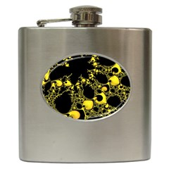 Special Fractal 04 Yellow Hip Flask by ImpressiveMoments