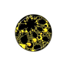 Special Fractal 04 Yellow Golf Ball Marker 10 Pack (for Hat Clip) by ImpressiveMoments