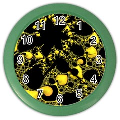 Special Fractal 04 Yellow Wall Clock (color) by ImpressiveMoments