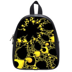 Special Fractal 04 Yellow School Bag (small) by ImpressiveMoments
