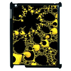 Special Fractal 04 Yellow Apple Ipad 2 Case (black) by ImpressiveMoments