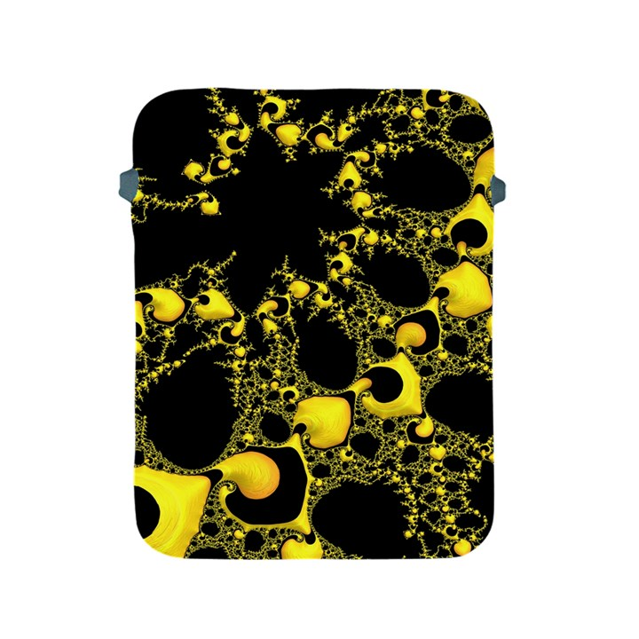 Special Fractal 04 Yellow Apple iPad Protective Sleeve
