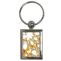 Special Fractal 04 Orange Key Chain (rectangle) by ImpressiveMoments