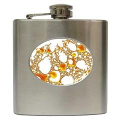 Special Fractal 04 Orange Hip Flask by ImpressiveMoments
