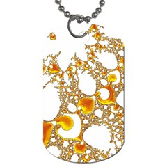 Special Fractal 04 Orange Dog Tag (two Sided)  by ImpressiveMoments