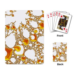 Special Fractal 04 Orange Playing Cards Single Design by ImpressiveMoments