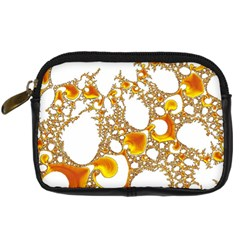 Special Fractal 04 Orange Digital Camera Leather Case by ImpressiveMoments