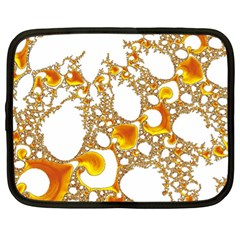 Special Fractal 04 Orange Netbook Sleeve (xl) by ImpressiveMoments