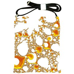 Special Fractal 04 Orange Shoulder Sling Bag by ImpressiveMoments