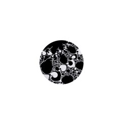 Special Fractal 04 B&w 1  Mini Button by ImpressiveMoments