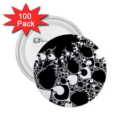Special Fractal 04 B&w 2.25  Button (100 pack)