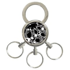 Special Fractal 04 B&w 3 Ring Key Chain by ImpressiveMoments