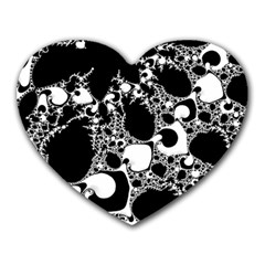 Special Fractal 04 B&w Mouse Pad (heart) by ImpressiveMoments
