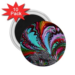 Special Fractal 02 Red 2 25  Button Magnet (10 Pack) by ImpressiveMoments