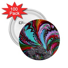 Special Fractal 02 Red 2 25  Button (100 Pack) by ImpressiveMoments