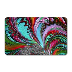 Special Fractal 02 Red Magnet (rectangular) by ImpressiveMoments