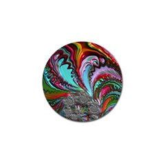 Special Fractal 02 Red Golf Ball Marker 10 Pack by ImpressiveMoments