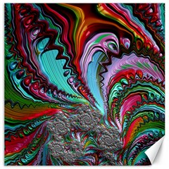 Special Fractal 02 Red Canvas 16  X 16  (unframed) by ImpressiveMoments
