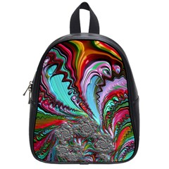 Special Fractal 02 Red School Bag (small) by ImpressiveMoments