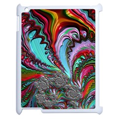Special Fractal 02 Red Apple Ipad 2 Case (white) by ImpressiveMoments