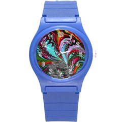 Special Fractal 02 Red Plastic Sport Watch (small) by ImpressiveMoments