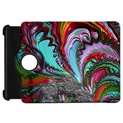 Special Fractal 02 Red Kindle Fire Hd 7  (1st Gen) Flip 360 Case by ImpressiveMoments