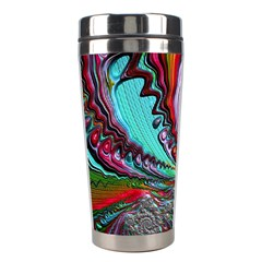 Special Fractal 02 Red Stainless Steel Travel Tumbler
