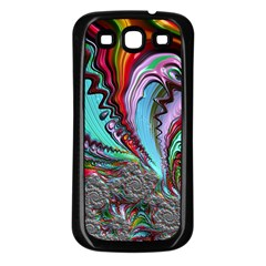 Special Fractal 02 Red Samsung Galaxy S3 Back Case (black) by ImpressiveMoments