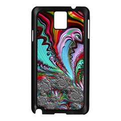 Special Fractal 02 Red Samsung Galaxy Note 3 N9005 Case (black)