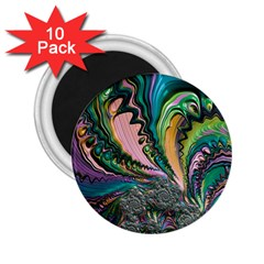 Special Fractal 02 Purple 2.25  Button Magnet (10 pack) by ImpressiveMoments