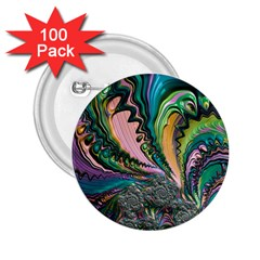 Special Fractal 02 Purple 2.25  Button (100 pack)